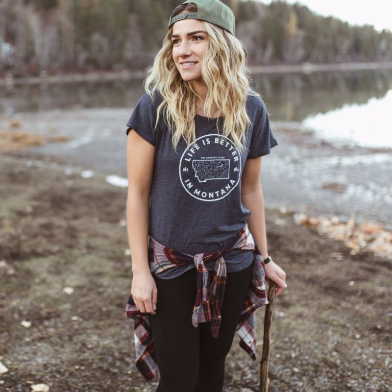 Life is Better in Montana Flowy Tee from The Montana Scene | Montana Laura Blog | J. Vigil Photography