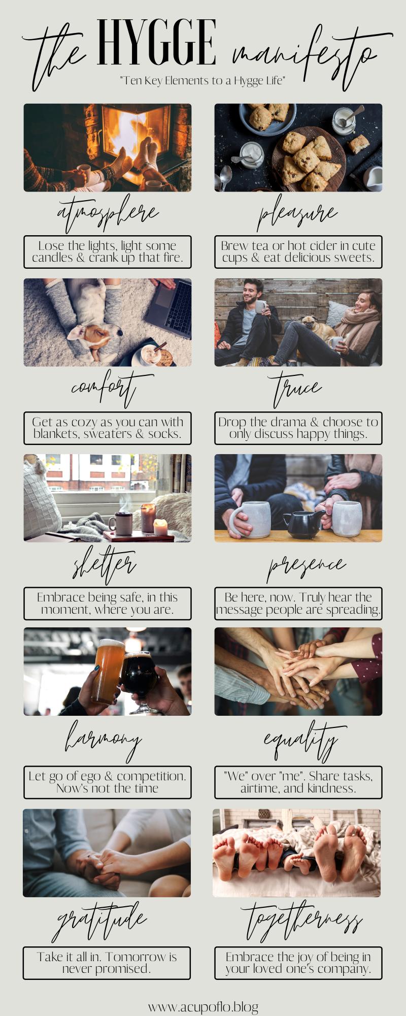 The Hygge Manifesto Ten Key Elements to a Hygge Life
